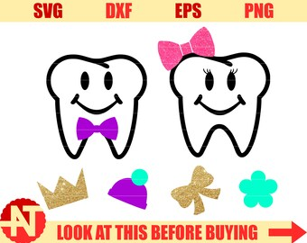 Teeth SVG for Tooth Fairy Bags Tooth svg Tooth Fairy Svg Create your own svg for Cricut Silhouette Cutting File svg dxf png eps toddler svg