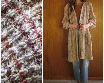 MISSONI for I. MAGNIN orange label boucle jute knit sweater coat, s m