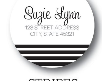 "Stripe Labels - 2"" Circle"