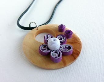 Paper Quilled Necklace, Paper Quilling Jewelry, Quilled Jewelry, Paper Quilling