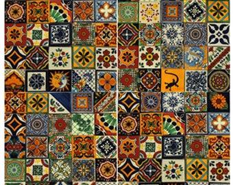 Mexican Talavera Tile X PiecesOn Sale - Cheap mexican tile sale