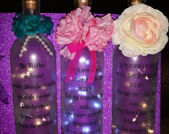 Personalised battery operated light up bottles