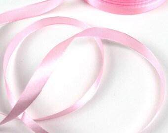 2 M of satin ribbon ROSE 10 mm wide