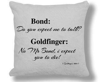 Goldfinger 1964 Film Quote Cushion Cover (FQ030)