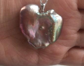 Bulldog Shape Baroque Pearl Necklace/Rose Violet Mixed Lemon Green 3.5*3.2CM