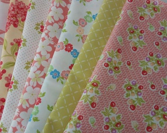 ALOHA GIRL Fig Tree Joanna Figueroa Moda Fabric Cotton Quilting ~ 8 fat quarters bundle