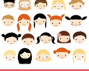 cute faces clipart etsy rh etsy com