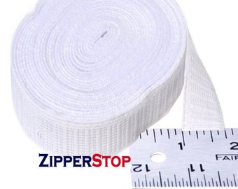 12 Yard Elastic - Non-roll Elastic 3/4 inch - Select Color Black or White