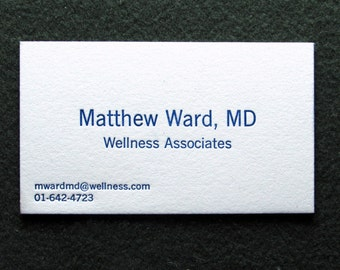 Great Price!  50 Letterpress Business Cards, Minimalist Design, Why Pay More?