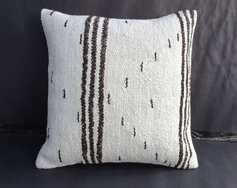 Hemp kilim Rug Pillow,20x20 inch 50x50 Cm Vintage Home Sofa Decor Large Hemp Pillow Cover,Turkish Hemp Rug Pillow.Modern Turkish Hemp Pillow