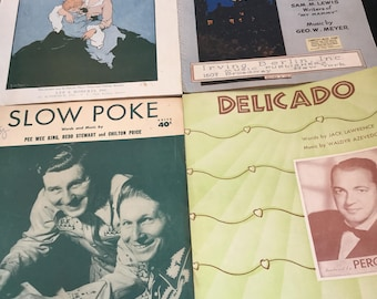 Vintage sheet music Lot of 4 1920-1951