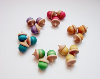 Counting Acorns - A Montessori and Waldorf Inspired Wooden Counting and Learning Toy