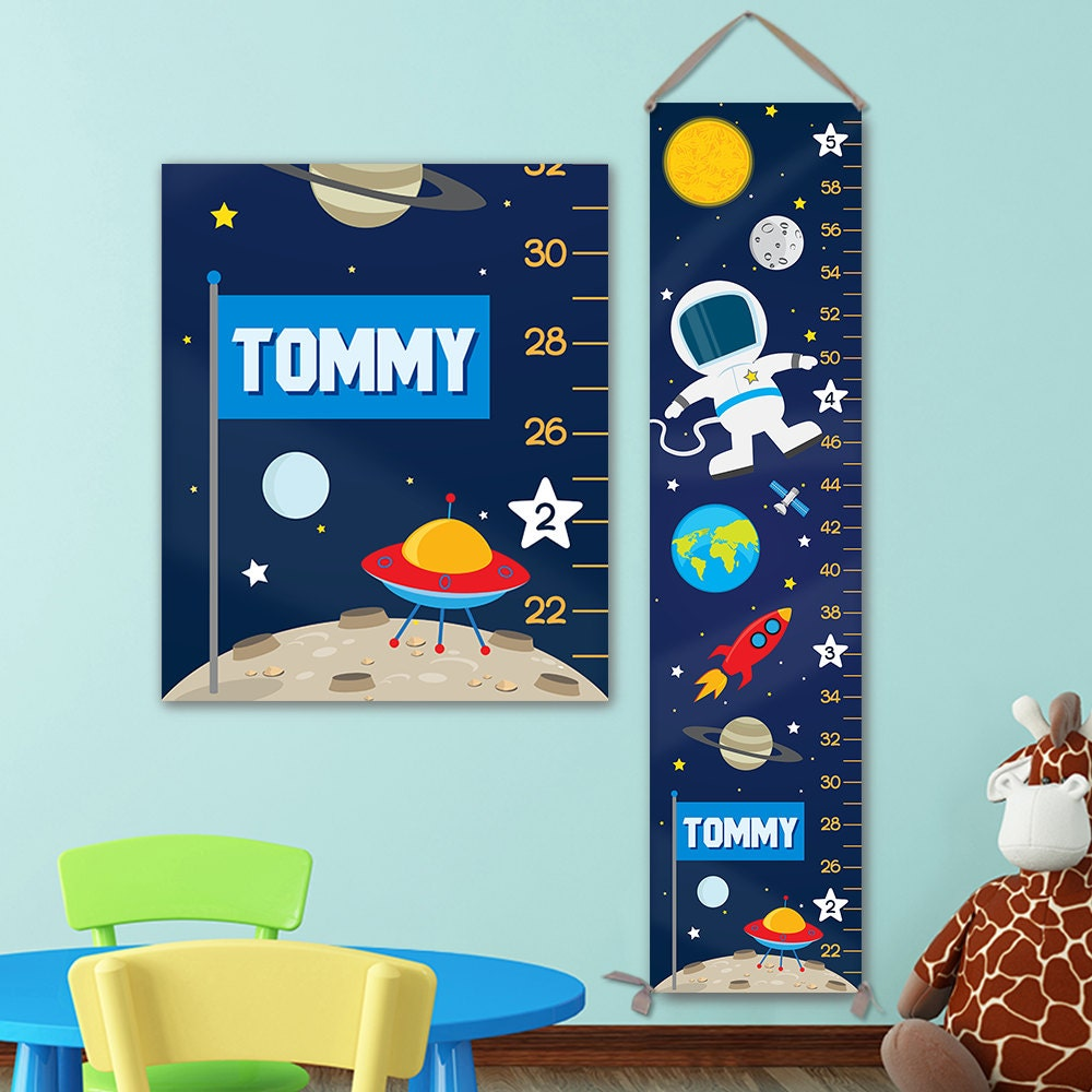 Growth chart for outer space nursery personalized canvas growth growth chart for outer space nursery personalized canvas growth chart space nursery solar system nursery space growth chart gc4003u nvjuhfo Gallery