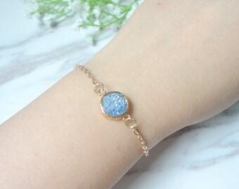 Bohemian bright natural stone  agate stones bracelets 967