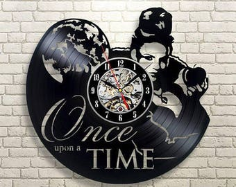 Once Upon A Time Gift Vinyl Record Wall Clock