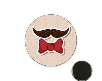 Mustache tie 32 mm magnet