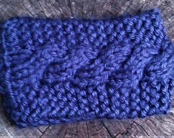 Blue Chunky Cable Knit Earwarmer (CHOOSE YOUR COLORS)