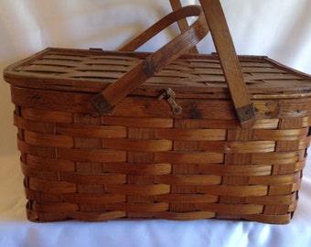 Square Woven Picnic Basket
