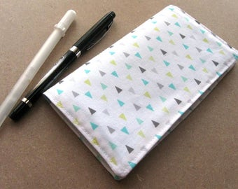 Fabric checkbook cover - wallet, coupons, receipts, and more!