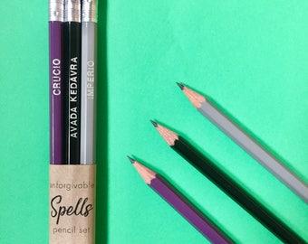 Harry Potter Unforgivable Curses pencil spell gift set