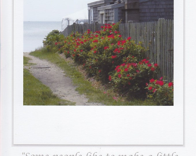 Down The Garden Path LARGE photo card