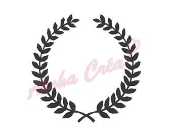 Machine Embroidery Designs Laurel wreath (10 sizes) - Instant Digital Download