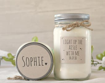 Bridesmaid proposal Gift / Light up the Aisle with me Candle / Will you be my Maid of Honor / Bridesmaid Box / Will you be my Bridesmaid?