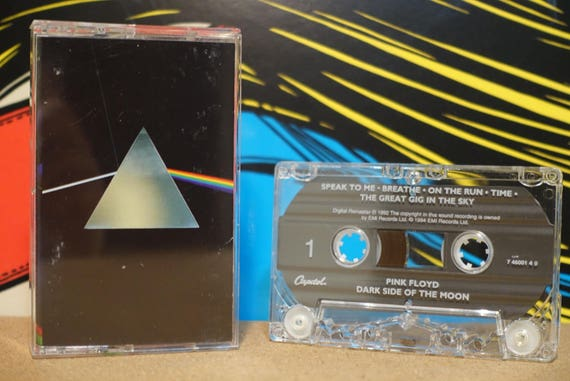 The Dark Side Of The Moon by Pink Floyd Vintage Cassette Tape