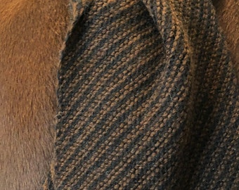 Paco-Vicuna Hand Knitted Scarf with Fringe