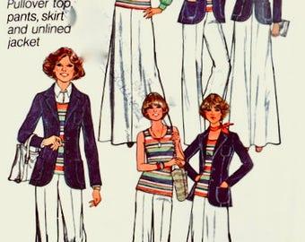 Simplicity 7930 - UNCUT - Size 14 Bust 36 - 1975 Jacket - Vintage Sewing Pattern