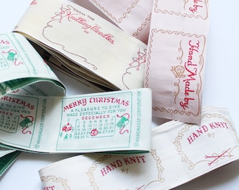 Vintage Clothing Labels - 4 different styles