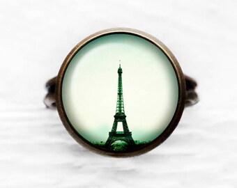 Eiffel Tower Paris France Adjustable Ring