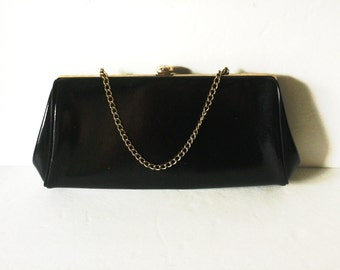 Vintage Black Classic 50's Handbag