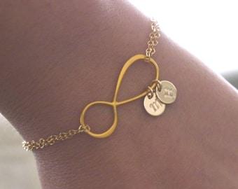 Grandmothers Bracelet, Grandma Bracelet, Infinity Bracelet, 1 2 3 4 Initials Bracelet, New Grandma Gift, Personalized, 14k gold filled
