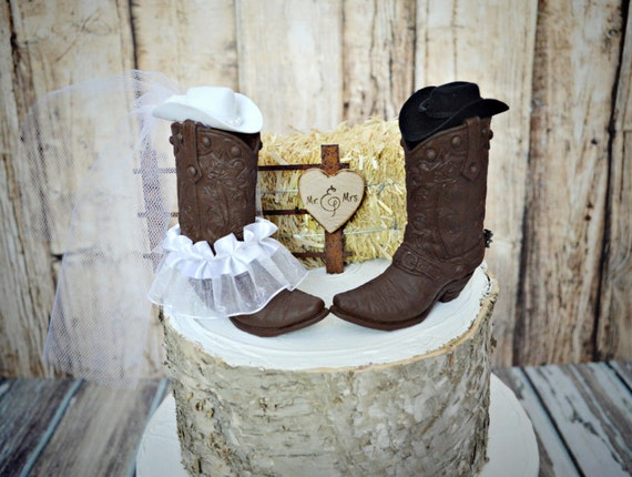 boot wedding cake topper items similar to western wedding cake topper boot cowboy 12096