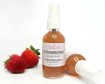 Strawberry Face Mist, Face toner, Setting Spray, Facial toner, Moisturizing Face Toner, Panthenol, Allantoin, Niacinamide, TaraLee
