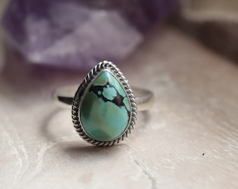 Teardrop Turquoise Ring, Boho Rings, Turquoise Rings, Simple Rings, Personalised Rings, Fashion Rings, Aztec Rings, Bohemian Rings, Teardrop