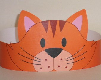 Cat (Orange) Crown - Printable