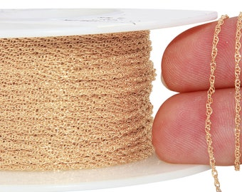 1 FT 1 mm 14K Gold Filled Rope Chain  (GF7R) Price Per Foot