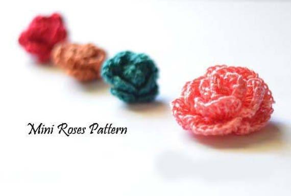 Crochet Mini Rose Pattern Crochet Rose Pattern Pdf Pattern