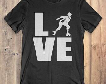 Roller Derby T-Shirt Gift: Love Roller Derby