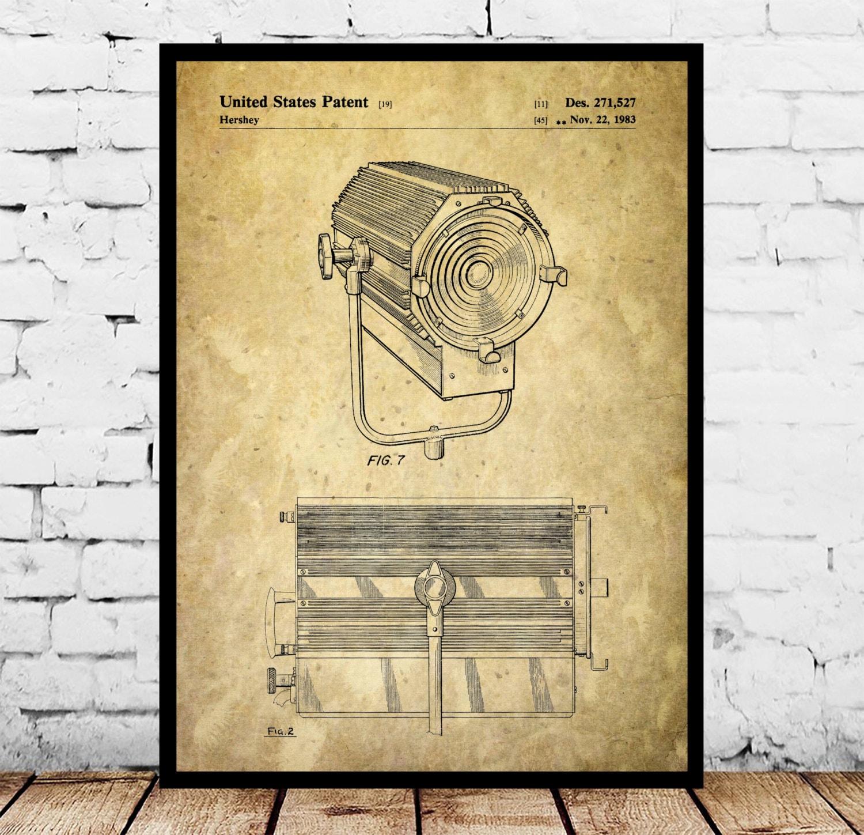 Theatre Spotlight Patent, Theatre Spotlight Poster, Spotlight Print ...