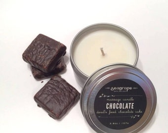 Chocolate Cake Kissable Soy Massage Candle