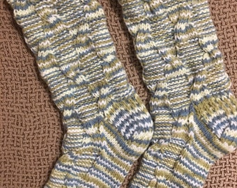 Hand knitted socks, women