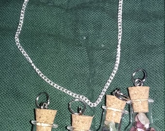 Mixed tourmaline bauble necklaces