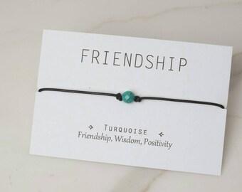 Turquoise Choker, Healing Jewelry, String Choker, Leather, Leather Choker, Healing Stones, Gift Idea, Friendship Choker, Turquoise Necklace