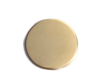 2 Pack 1/2 inch 20 Gauge GOLD FILL Round Circle Discs Jewelry Stamping Supplies