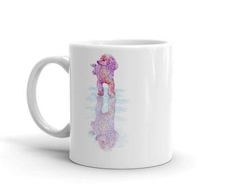 Pink Poodle Reflection Mug