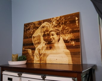 Optional Gift Certificate - Your Photo Engraved on Wood