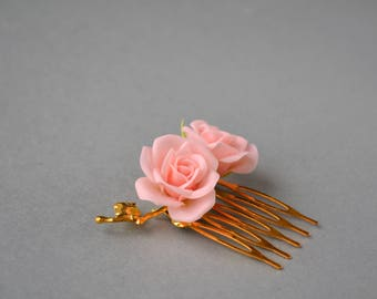 Flower wedding pin, hair accessoires, romantic pin, bridal look